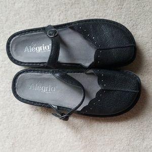 Alegria black slides,  size 39